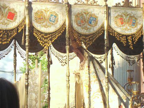 Virgen de la Victoria a la Salida de la Iglesia de Santo Domingo de Granada