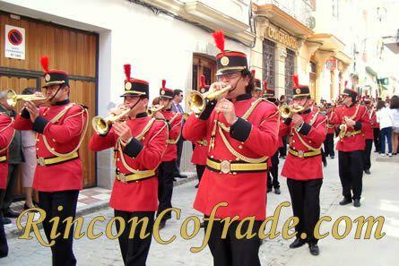 Banda de Cornetas y Tambores (Rus -Jaén) el pasado Domingo de Ramos en Torredonjimeno (Jaén)