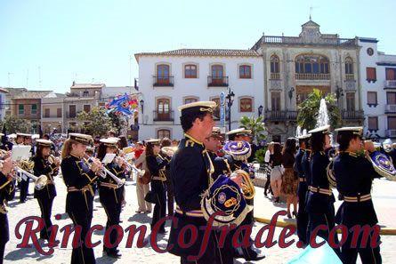 Banda de Cornetas y Tambores Nuestro Padre Jesús - Santiago de Calatrava (Jaén) acompañando a la Sentencia de Torredonjimeno