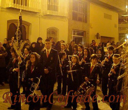 Banda de Música Pedro Morales de Lopera (Jaén) acompañando a la Fe y Amor de Torredonjimeno
