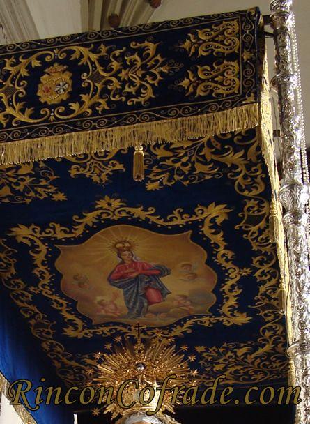 Detalle del Palio del Paso de Nuestra Señora del Rosario - Torredonjimeno