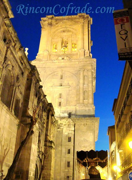 Palio de María Santísima de la Caridad y Torre de la Catedral de Granada
