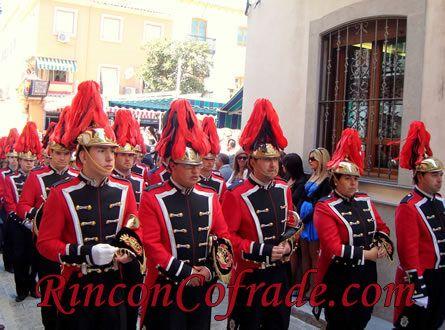 Banda de Cornetas y Tambores Nuestro Padre Jesús (Sayones) de Pozoblanco (Córdoba) acompañando al Cristo Resucitado de Torredonjimeno