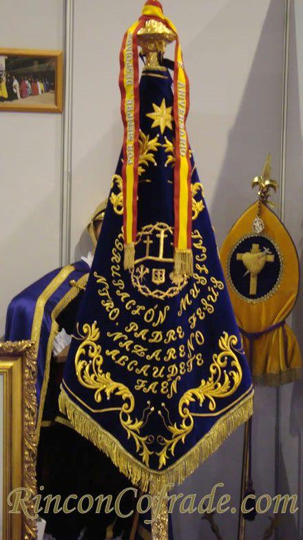 Banderín de la Agrupación Musical Nuestro Padre Jesús Nazareno de Alcaudete