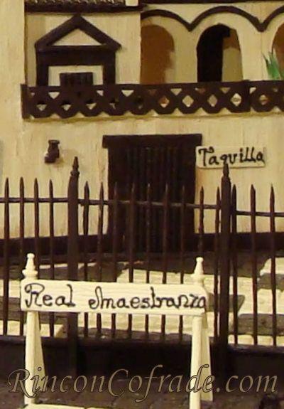 Detalle de la taquilla de la Real Maestranza de Sevilla