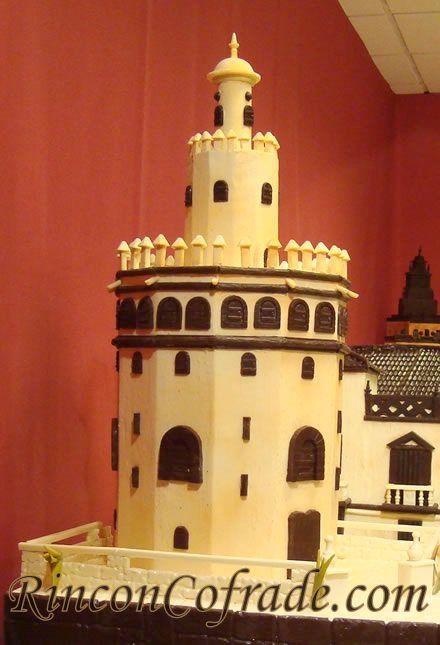 Torre del Oro en el Belén de Chocolate de Galleros Artesanos