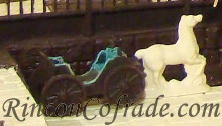 Coche de caballo en el Belén de Chocolate