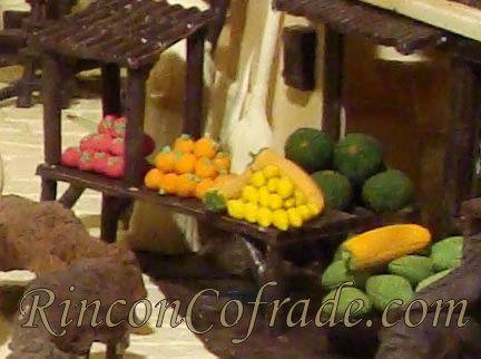Frutas y Verduras en el Belén de Chocolate
