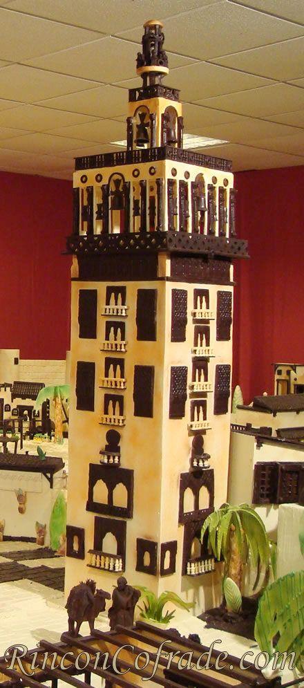 La Giralda de Sevilla en el Belén de Chocolate