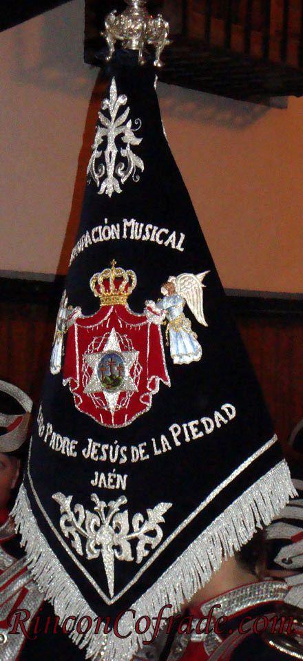 Banderín de la Agrupación Musical Nuestro Padre Jesús de la Piedad - Jaén