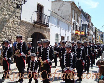 La Banda de Cornetas y Tambores Jesús Cautivo de Rus (Jaén) el Domingo de Ramos en Torredonjimeno